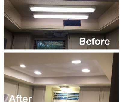 install recessed lighting before or after drywall 1970s kitchen light, before, after Fluorescent light removed, lights added Install Recessed Lighting Before Or After Drywall Popular 1970S Kitchen Light, Before, After Fluorescent Light Removed, Lights Added Photos