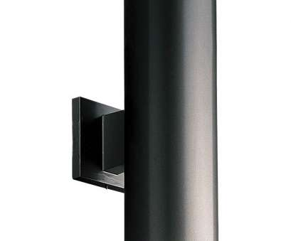 installing a light fixture to aluminum wiring Progress Lighting P5675-31 Outdoor Up/Down Wall Cylinder, Black, 5