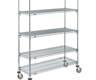 intermetro wire shelving Metro 5A556EC Super Adjustable Chrome 5 Tier Mobile Shelving Unit with Polyurethane Casters -, x, x 69