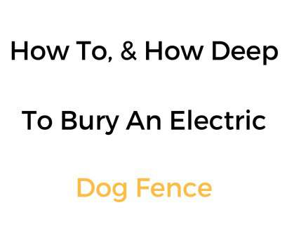 invisible dog fence wire depth How, &, Deep To Bury An Electric, Fence Wire 8 Best Invisible, Fence Wire Depth Solutions