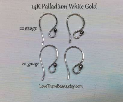is 22 gauge wire thick 14K Palladium White Gold Ball, Ear Wires 20 22 gauge Swap, Drop Exchangeable French Shepherd Fish Earring Hooks Earwires LoveThemBeads Is 22 Gauge Wire Thick Creative 14K Palladium White Gold Ball, Ear Wires 20 22 Gauge Swap, Drop Exchangeable French Shepherd Fish Earring Hooks Earwires LoveThemBeads Pictures