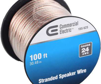 is 24 gauge speaker wire good enough Commercial Electric, ft. 24-Gauge Stranded Speaker Wire 15 Top Is 24 Gauge Speaker Wire Good Enough Pictures