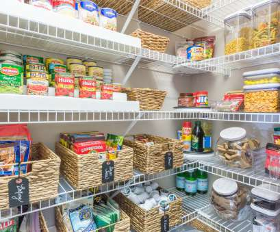 kitchen pantry wire shelving Nine Ideas to Organize a Small Pantry with Wire Shelving, Kelley Nan Kitchen Pantry Wire Shelving Popular Nine Ideas To Organize A Small Pantry With Wire Shelving, Kelley Nan Images