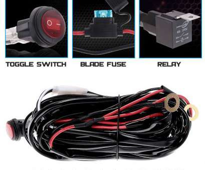 led light bar toggle switch wiring NEW 400W Wiring Harness 1 Lead, Light, + Relay + Blade Fuse +Toggle Switch, eBay Led Light, Toggle Switch Wiring Simple NEW 400W Wiring Harness 1 Lead, Light, + Relay + Blade Fuse +Toggle Switch, EBay Collections