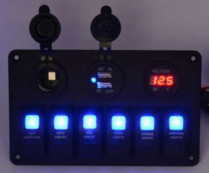 light switch circuit breaker panel 6 Gang 5, 12V, Led Rocker Switch Panel Circuit Breaker Charger Dual, Socket Light Switch Circuit Breaker Panel New 6 Gang 5, 12V, Led Rocker Switch Panel Circuit Breaker Charger Dual, Socket Collections
