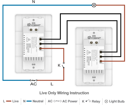 light switch on neutral wire Option 3: Connect, Yoswit 3-way switches, 2-wire (without neutral wire) Light Switch On Neutral Wire New Option 3: Connect, Yoswit 3-Way Switches, 2-Wire (Without Neutral Wire) Images