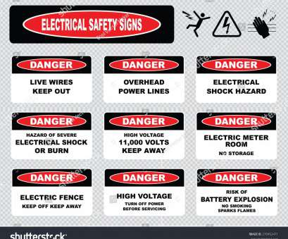 Live Electrical Wire Danger Professional Danger Overhead