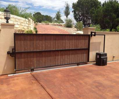 live wire electric gates and doors Sliding driveway wood covered gate with metal frame with electric operator Live Wire Electric Gates, Doors Nice Sliding Driveway Wood Covered Gate With Metal Frame With Electric Operator Images