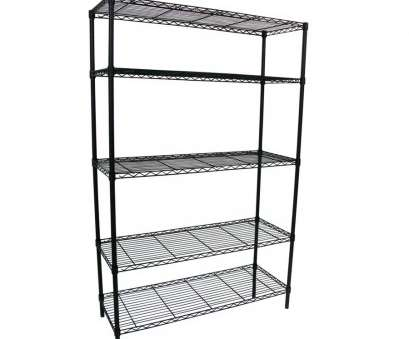 lowes chrome wire shelving Shop Style Selections 74-in, 48-in, 18-in D 5-Tier Steel 12 Brilliant Lowes Chrome Wire Shelving Images