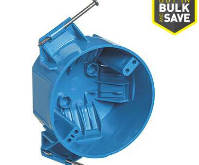 Lowes Electrical Wire Clamp Cleaver CARLON 1-Gang Blue, Interior, Work Standard Round Ceiling Electrical Box Images