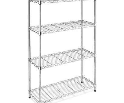 Lowes Wire Shelf Cutting New Whitmor Supreme 4-Tier Shelving Chrome Images