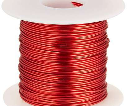magnet wire gauge to mm Remington Industries 18SNSP Magnet Wire, Enameled Copper Wire, 18 AWG,, lb, 201' Length, 0.0415