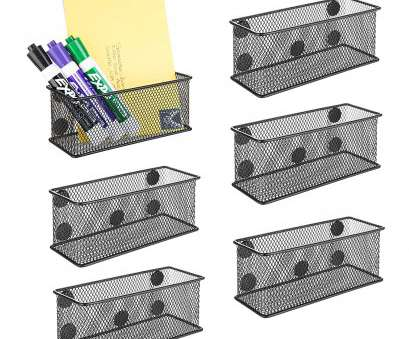 magnetic wire mesh baskets Amazon.com : MyGift Wire Mesh Magnetic Storage Baskets, Office Supply Organizer,, of 6, Black : Office Products 18 Simple Magnetic Wire Mesh Baskets Solutions