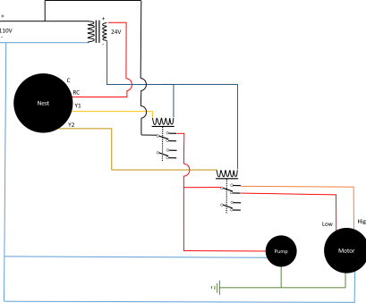 masterstat thermostat wiring diagram wiring, Controlling 110v swamp cooler using Nest thermostat Masterstat Thermostat Wiring Diagram Popular Wiring, Controlling 110V Swamp Cooler Using Nest Thermostat Images
