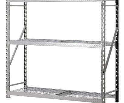 menards chrome wire shelving Muscle Rack TP722472W3 3-Shelf Steel Treadplate Welded Rack, Length: 24