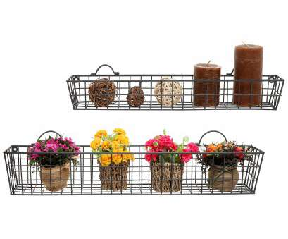 metal wire basket shelving Details about, of 2 Gray Country Rustic Wall Mounted Openwork Metal Wire Storage Basket Metal Wire Basket Shelving Creative Details About, Of 2 Gray Country Rustic Wall Mounted Openwork Metal Wire Storage Basket Solutions