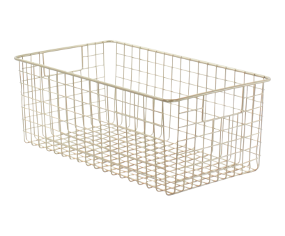 metal wire basket shelving ... metal wire baskets, bins! Tall Satin Classico 9