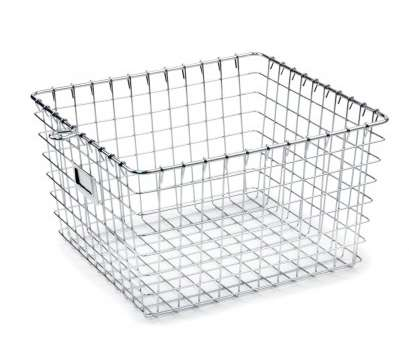metal wire basket shelving Spectrum Diversified Metal Storage Basket, Chrome, Size: Medium Metal Wire Basket Shelving Popular Spectrum Diversified Metal Storage Basket, Chrome, Size: Medium Images
