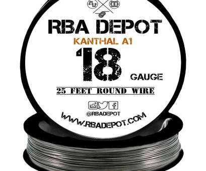 metal wire gauge to mm ... 18 Gauge, Premium Kanthal Wire Alloy A1 Resistance Wire 1.02mm Roll -, Depot Metal Wire Gauge To Mm Brilliant ... 18 Gauge, Premium Kanthal Wire Alloy A1 Resistance Wire 1.02Mm Roll -, Depot Collections