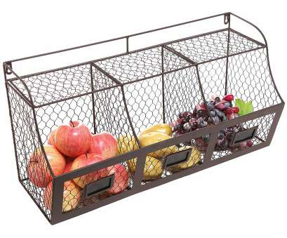 metal wire wall shelving Amazon.com, Large Rustic Brown Metal Wire Wall Mounted Hanging Fruit Basket Storage Organizer, w/Chalkboards Metal Wire Wall Shelving Top Amazon.Com, Large Rustic Brown Metal Wire Wall Mounted Hanging Fruit Basket Storage Organizer, W/Chalkboards Pictures