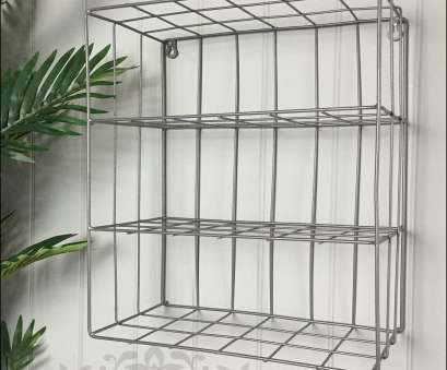 metal wire wall shelving Retro Industrial Style Grey Metal Wire Wall Storage Shelving Unit, Whaleycorn Metal Wire Wall Shelving Top Retro Industrial Style Grey Metal Wire Wall Storage Shelving Unit, Whaleycorn Pictures
