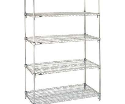 metro wire shelving Metro 5A557C Stationary Super Erecta Adjustable 2 Series Chrome Wire Shelving Unit -, x, x 74