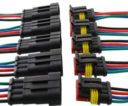 motorcycle electrical wire connectors Vehemo, 5, 4, Way, Auto Truck Vehicle Motorcycles Marine Waterproof Connector Adapter Plug W/Wire Black Motorcycle Electrical Wire Connectors Fantastic Vehemo, 5, 4, Way, Auto Truck Vehicle Motorcycles Marine Waterproof Connector Adapter Plug W/Wire Black Photos