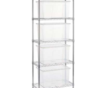 narrow wire rack shelving Narrow Chrome Wire Shelving Unit with, 60 L Storage Boxes Narrow Wire Rack Shelving Simple Narrow Chrome Wire Shelving Unit With, 60 L Storage Boxes Pictures