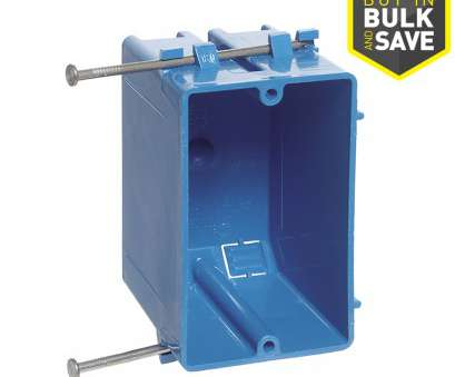 new electrical outlet installation price CARLON 1-Gang Blue Plastic Interior, Work Standard Switch/Outlet Wall Electrical Box New Electrical Outlet Installation Price Popular CARLON 1-Gang Blue Plastic Interior, Work Standard Switch/Outlet Wall Electrical Box Solutions