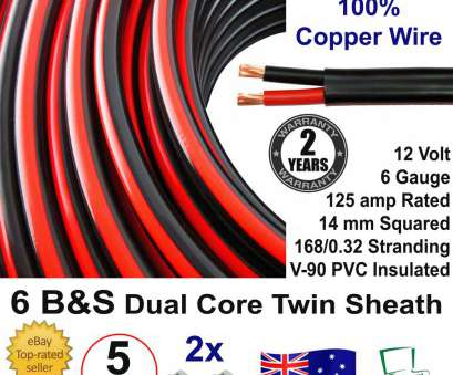 number 6 gauge wire amp New 5m 6B&S DUAL BATTERY CABLE, S Twin Core Auto 5 Metre, 6BS BS Wire 12V, eBay Number 6 Gauge Wire Amp Brilliant New 5M 6B&S DUAL BATTERY CABLE, S Twin Core Auto 5 Metre, 6BS BS Wire 12V, EBay Photos