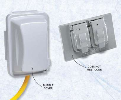 outdoor electrical wiring code ..., Wrong Cover on an Outdoor Receptacle, /wiring/the-most-common-electrical- code-violations-diyers-make#5 Outdoor Electrical Wiring Code Practical ..., Wrong Cover On An Outdoor Receptacle, /Wiring/The-Most-Common-Electrical- Code-Violations-Diyers-Make#5 Pictures