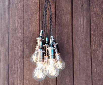 pendant light wire gauge 5 Lights Mini Pendant Light with Braided Textile Cord Chrome Copper Pearl Black Pendant Light Wire Gauge Practical 5 Lights Mini Pendant Light With Braided Textile Cord Chrome Copper Pearl Black Images