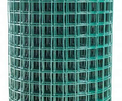 plastic coated wire mesh panels uk PVC 18ga Coated Wire Fence Welded Mesh Green 1/2