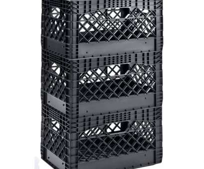 plastic corner connectors wire cube shelving 19, W x 11, H Stackable Plastic Milk Crate, in Black (3-Pack) Plastic Corner Connectors Wire Cube Shelving Professional 19, W X 11, H Stackable Plastic Milk Crate, In Black (3-Pack) Pictures