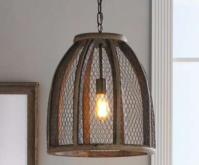 12 Nice Pottery Barn Chicken Wire Pendant Light Photos