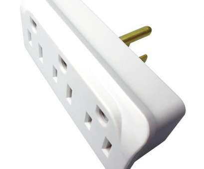 power outlet for grounding 15-Amp 3-Wire Grounding Single to Triple White Basic Adapter 12 Creative Power Outlet, Grounding Solutions