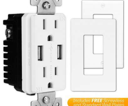 power outlet installation cost TOPGREENER TU2154A High Speed, Charger Outlet,, Wall Charger, Electrical Outlet with USB,, TR Receptacle, Screwless Wall Plate,, iPhone X Power Outlet Installation Cost Brilliant TOPGREENER TU2154A High Speed, Charger Outlet,, Wall Charger, Electrical Outlet With USB,, TR Receptacle, Screwless Wall Plate,, IPhone X Ideas