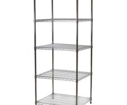quantum chrome wire shelving Industrial Wire Shelving Unit with 5 Shelves, 24