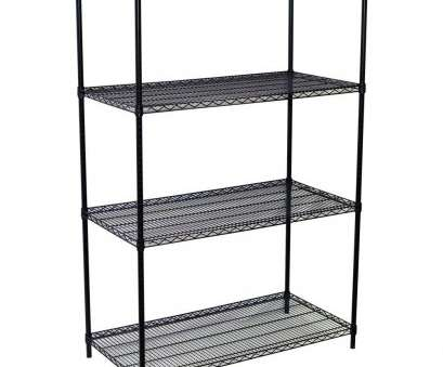 quantum chrome wire shelving Storage Concepts 63, H x 60, W x 18, D 4-Shelf Steel Wire Shelving Unit in Black Quantum Chrome Wire Shelving Brilliant Storage Concepts 63, H X 60, W X 18, D 4-Shelf Steel Wire Shelving Unit In Black Galleries