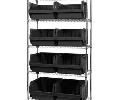 quantum chrome wire shelving ..., Wire Shelving Unit with 8 Magnum Bins, Black is on sale now Quantum Chrome Wire Shelving Simple ..., Wire Shelving Unit With 8 Magnum Bins, Black Is On Sale Now Images