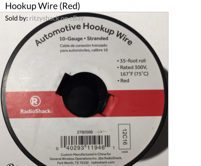 radio shack 22 gauge wire RadioShack 35-ft 10awg, Automotive Hookup Wire 278-0568 2780568 Radio Shack 22 Gauge Wire Cleaver RadioShack 35-Ft 10Awg, Automotive Hookup Wire 278-0568 2780568 Images
