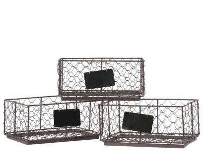 rectangular wire mesh Metal Rectangular Wire Basket with Mesh Sides, Name Tags Assortment of Three Coated Finish Bronze by Urban Trends Collection Rectangular Wire Mesh Simple Metal Rectangular Wire Basket With Mesh Sides, Name Tags Assortment Of Three Coated Finish Bronze By Urban Trends Collection Galleries