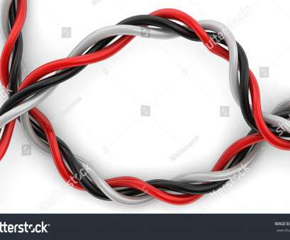red black and white electrical wires Stranded Wire Frame Twisted Together, Stock Illustration Red Black, White Electrical Wires Best Stranded Wire Frame Twisted Together, Stock Illustration Solutions