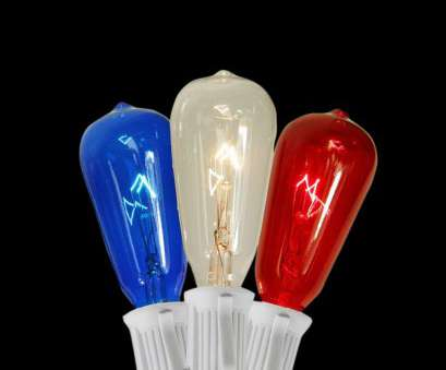 red christmas lights with white wire null 10-Light Transparent, Blue, Clear ST40 Edison Style, of July Christmas Lights, White Wire (Set of 10) Red Christmas Lights With White Wire Creative Null 10-Light Transparent, Blue, Clear ST40 Edison Style, Of July Christmas Lights, White Wire (Set Of 10) Solutions