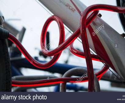 red electrical wire means Means of securing bicycles in, bike rakcs of a London railway station, Stock Image Red Electrical Wire Means Most Means Of Securing Bicycles In, Bike Rakcs Of A London Railway Station, Stock Image Photos
