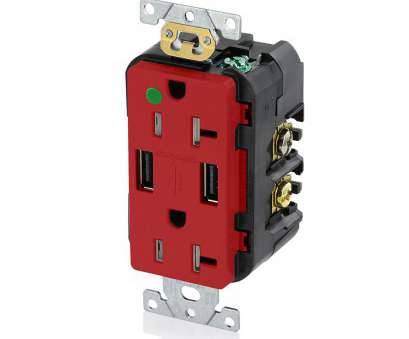 red electrical wire outlet Leviton Decora 20, Hospital Grade Tamper Resistant Duplex Outlet, 3.6, USB Outet, Red 14 Popular Red Electrical Wire Outlet Ideas