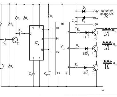 Remote Control Light Switch Wiring Diagram Nice Circuit Diagram Of Clap Operated Remote, Switch Electrical Rh Pinterest, Remote Control Light Fan Photos