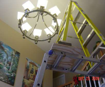 replace ceiling light bulb Replacing chandelier, Entry is 2 stories tall (phone, painting Replace Ceiling Light Bulb Brilliant Replacing Chandelier, Entry Is 2 Stories Tall (Phone, Painting Images