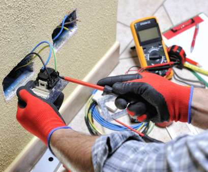 residential electrical wiring inspection Electrician technician at work with safety equipment on a residential electrical system Residential Electrical Wiring Inspection Practical Electrician Technician At Work With Safety Equipment On A Residential Electrical System Photos