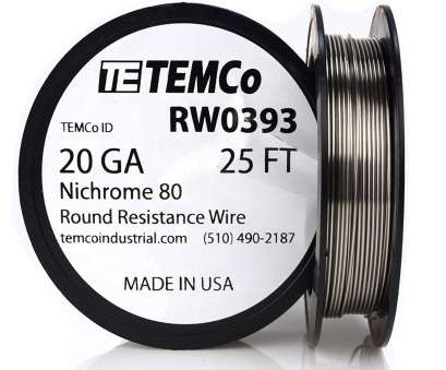 resistivity of 22 gauge copper nickel wire TEMCo Nichrome 80 series wire 20 Gauge 25 FT Resistance, ga, Amazon.com 10 New Resistivity Of 22 Gauge Copper Nickel Wire Photos